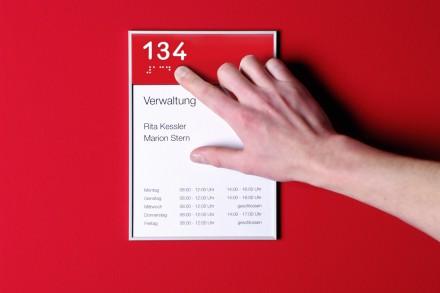 Farbleitsystem - Braille Laschen