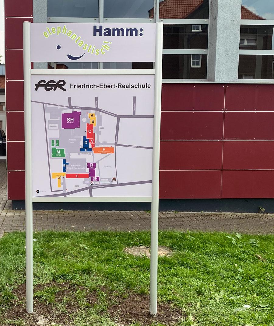 Aussentafel Hamm Friedrich-Ebert-Realschule